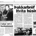 Article on the boys in Reykjavik, Iceland newspaper