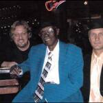 The boys with Pinetop Perkins  Photo: Rich Benson